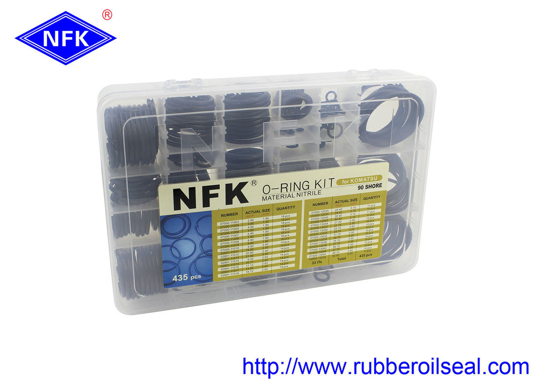 KOMATSU Rubber O Ring Kit  , High Temperature O Rings Seal Long Using Time