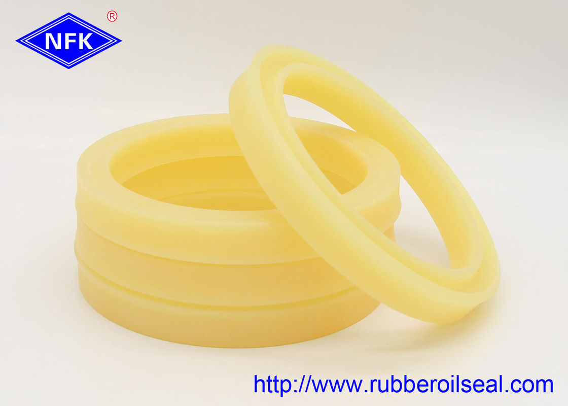 Yellow Rod Hydraulic Piston Oil Seal UPI PU 35 Mpa Stress Mid Sliding Resistant